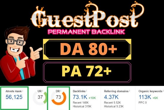 I will guest on my da 72 general website with do follow link