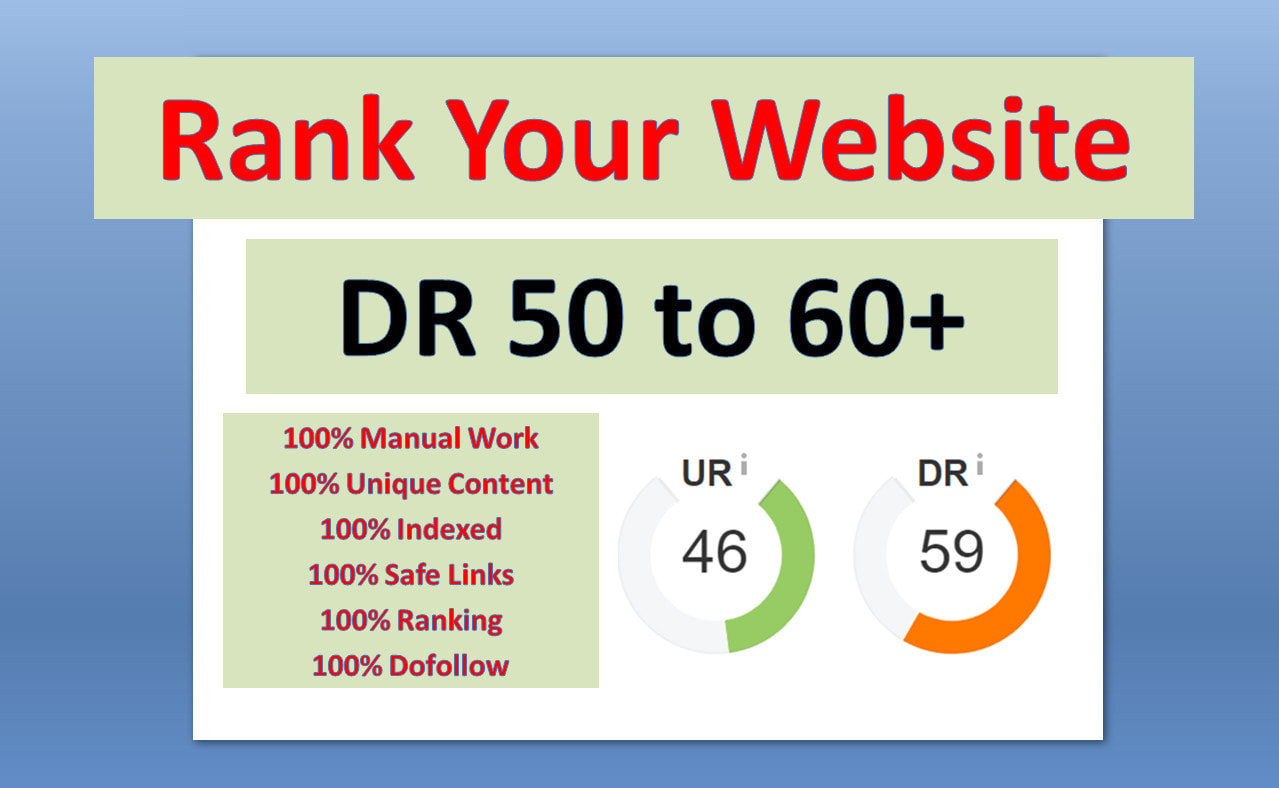 Manually make 20 DR 50 to 70 pbn dofollow permanent homepage backlinks