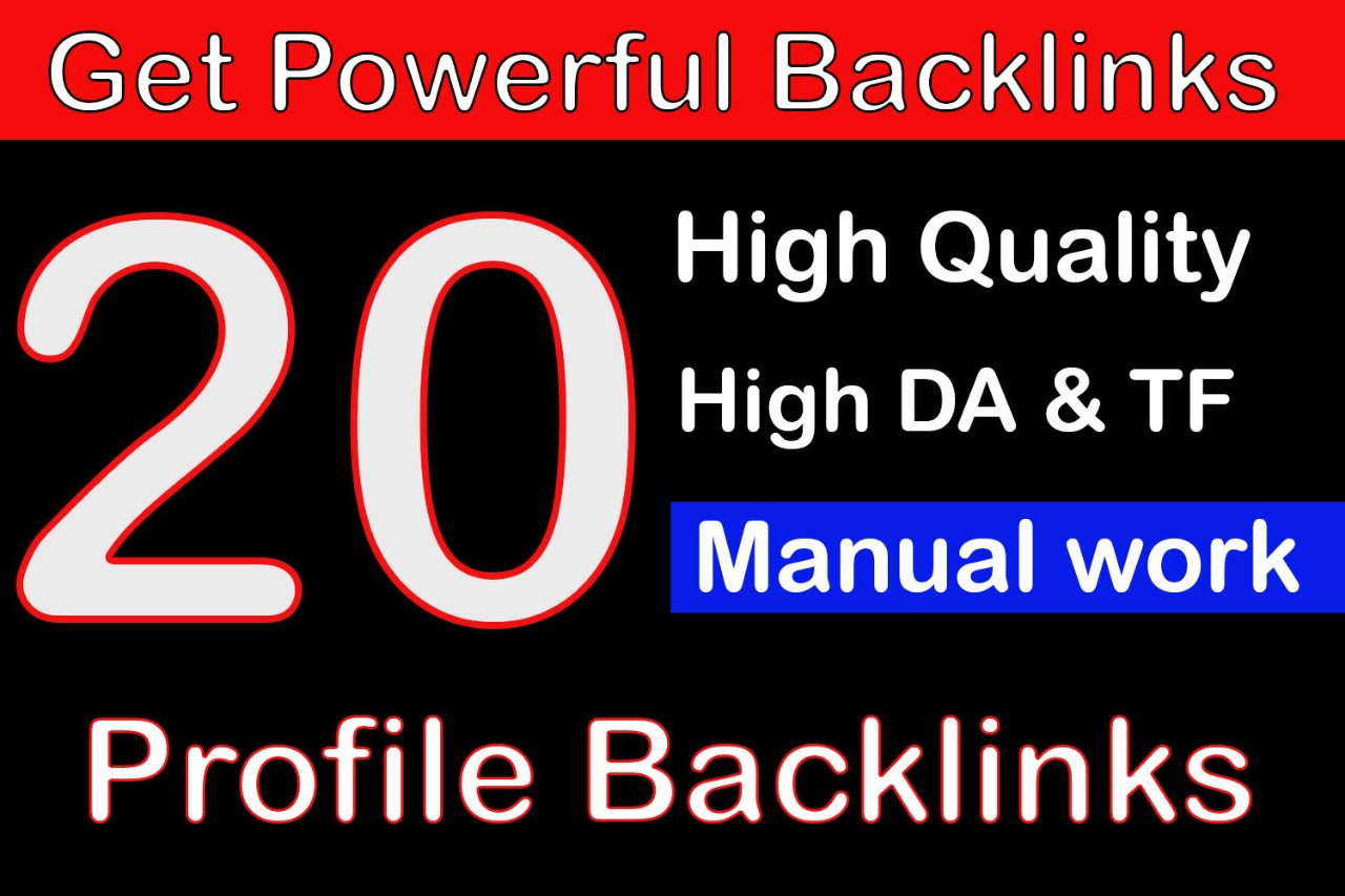 Create 20 High DA Backlink With Anchor Showing Link For 2020 Best Ranking Result