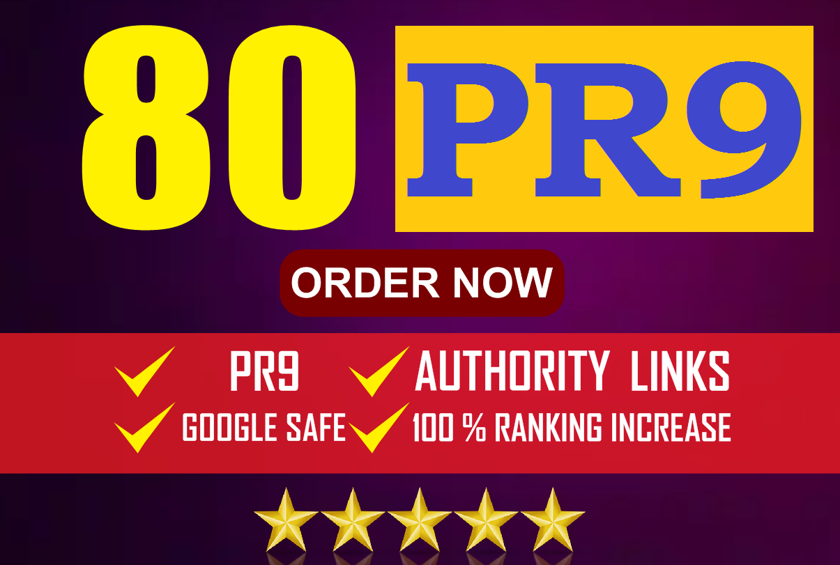 Increase your Google Ranking Instantly With 80 High PR Backlink
