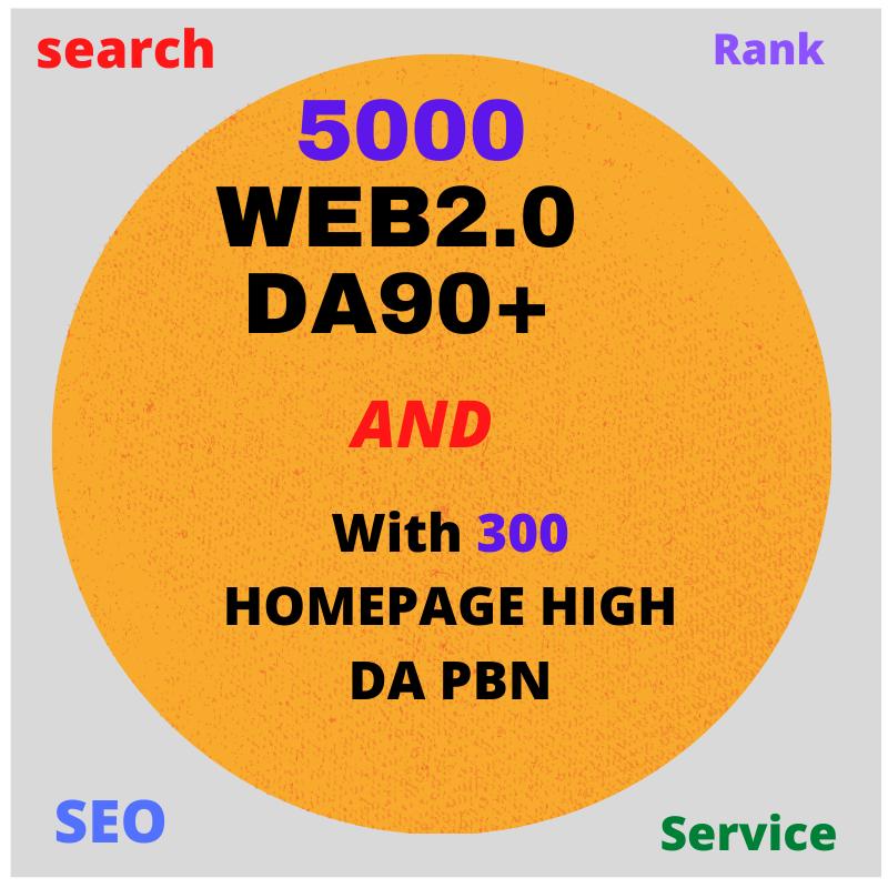 DO 5000 web2.0 DA90+With 300 HOMEPAGE HIGH DA PBN