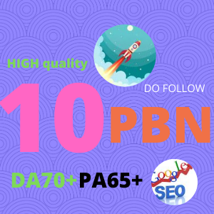 Rocket your website 10 PBN High DA70+ TF CF Quality DO FOLLOW backlinks