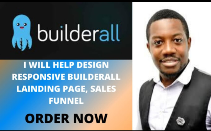 I will design a responsive landing page,  sales funnel in builderall