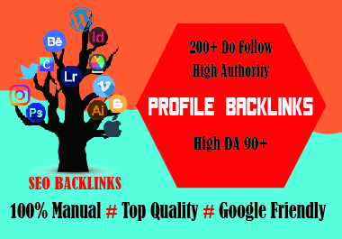 I will create you 100 profile backlink from the PR7 to PR9 High authority website.