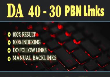 Get 3 high quality DA 40-30+ pbn backlinks.