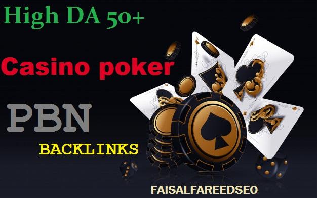 Get 250 DA 65-50+ High Quality Casino/poker PBN Backlinks