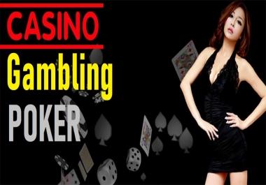Get 200 DA 50-30+ High quality gambling, poker, Judi related sites.