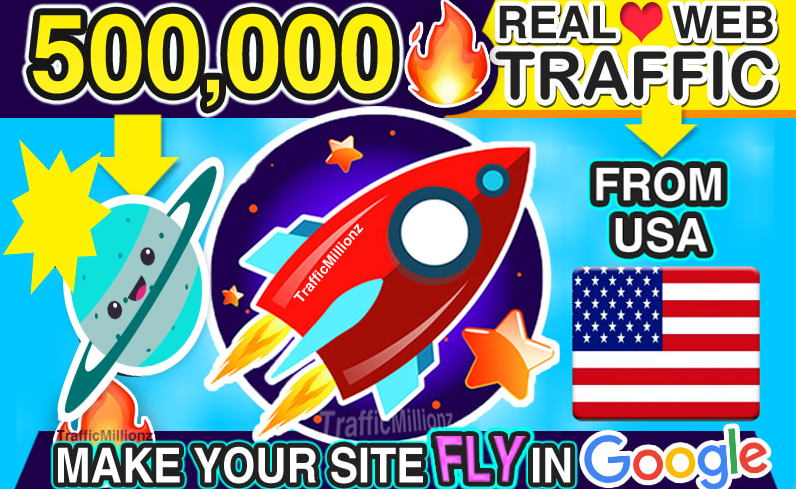 I will send real 1 million USA web traffic visitors to your website
