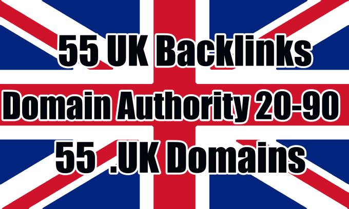Build 55 uk authority backlinks