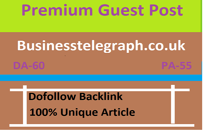 I will make high authority UK guest post high traffic site