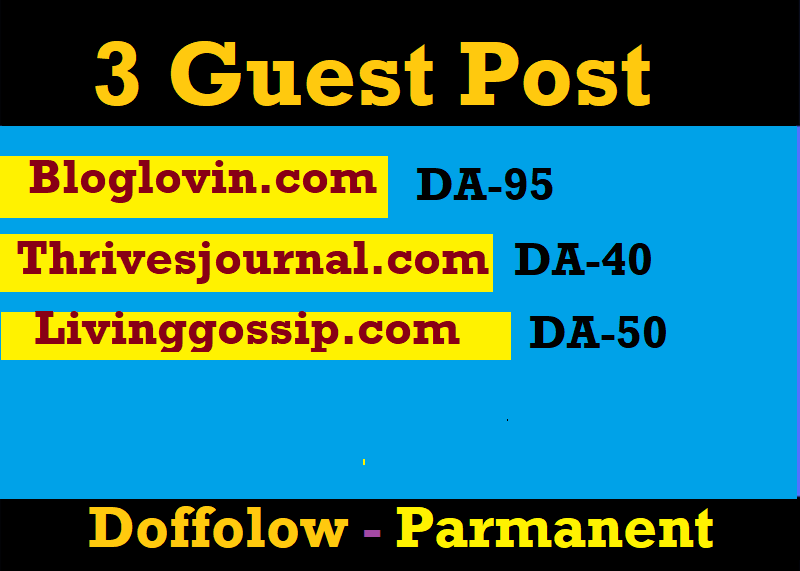Do high authority Guest Post DA 95 On Bloglovin. com