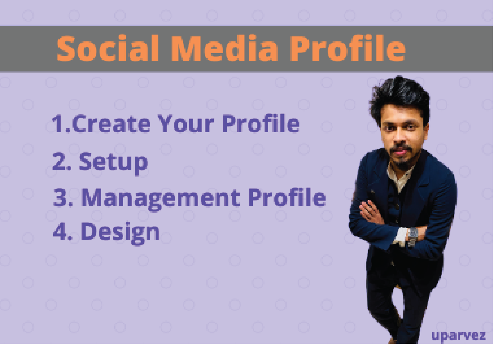 I will make social media profile and Facebook business page