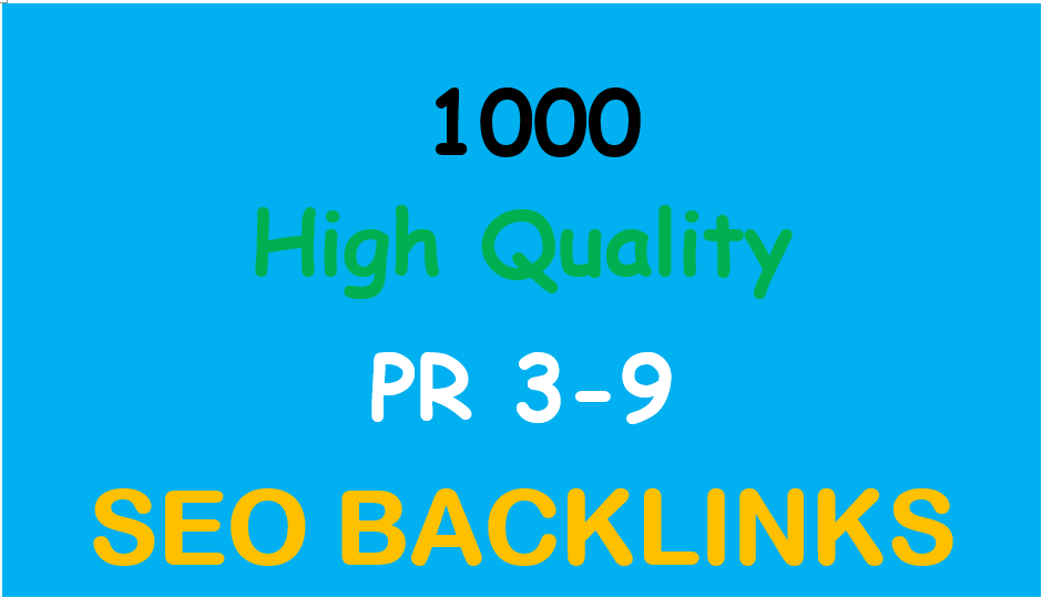 Provide more than 1000 PR3Plus backlinks