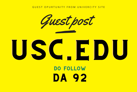 Edu Guest post from University of Southern California - USC. edu