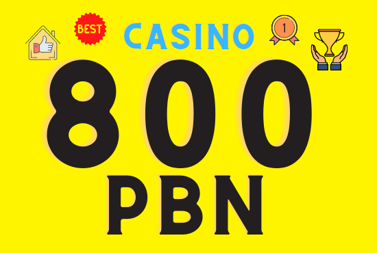 800 Casino web 2.0 PBN backlinks unique 800 sites