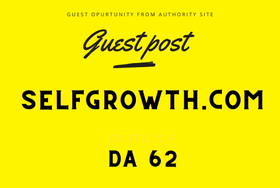 Guest post on selfgrowth. com Da 62
