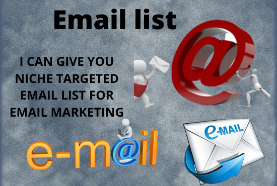 Get 1000 valid targeted email list for email marketing
