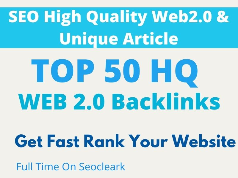 I will create Top 25 SEO Web 2.0 Backlinks to get fast rank your domain and get more traffic