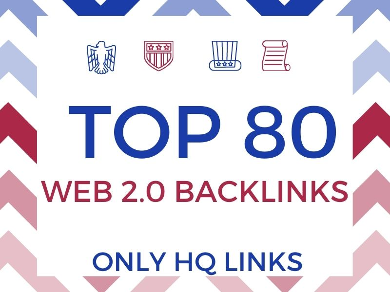 I will manually create Top 80 SEO Web 2.0 Backlinks to get fast rank and traffic your website.