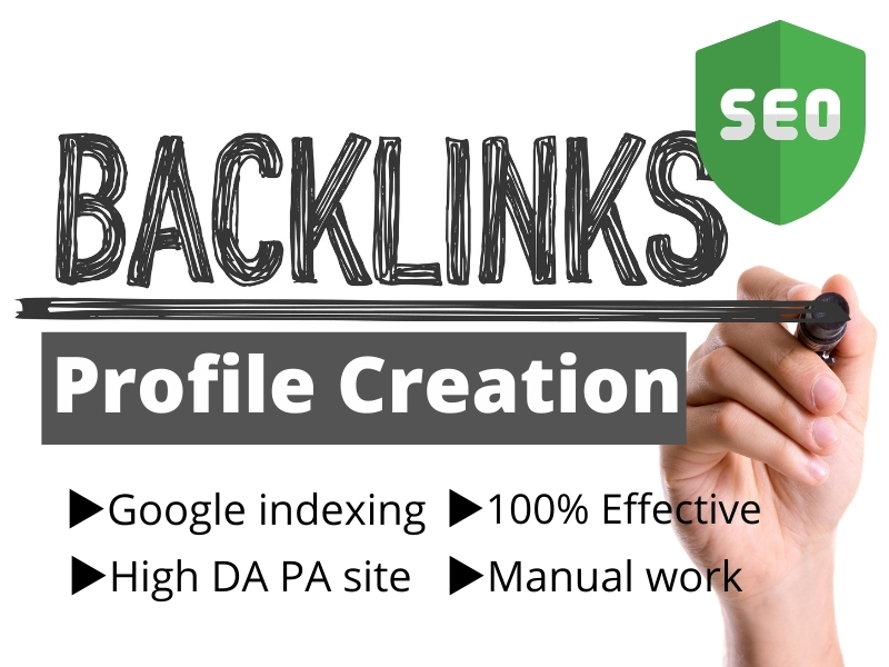 I will create 50 SEO profile creation link building backlinks with high DA PA site