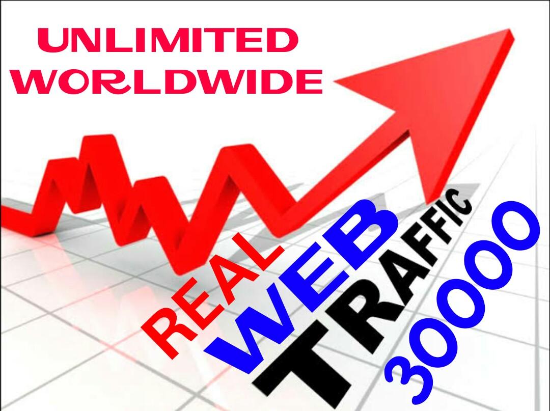 30,000 Worldwide Traffic Visitors Website facebook instagram Twitter youtube Traffic
