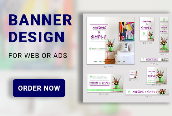 I will design the most unique banner for you,  web banner, banner ads,  google banner
