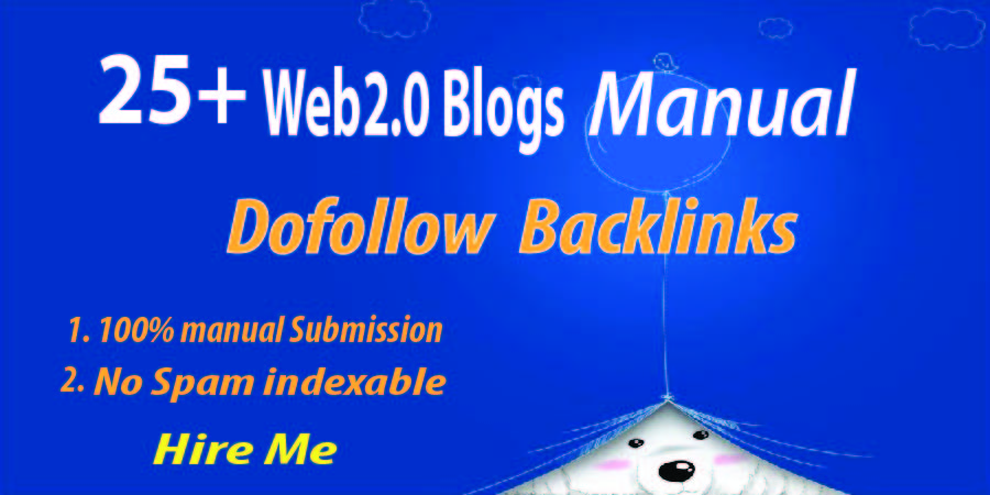 25+ High Quality Web2.0 backlinks