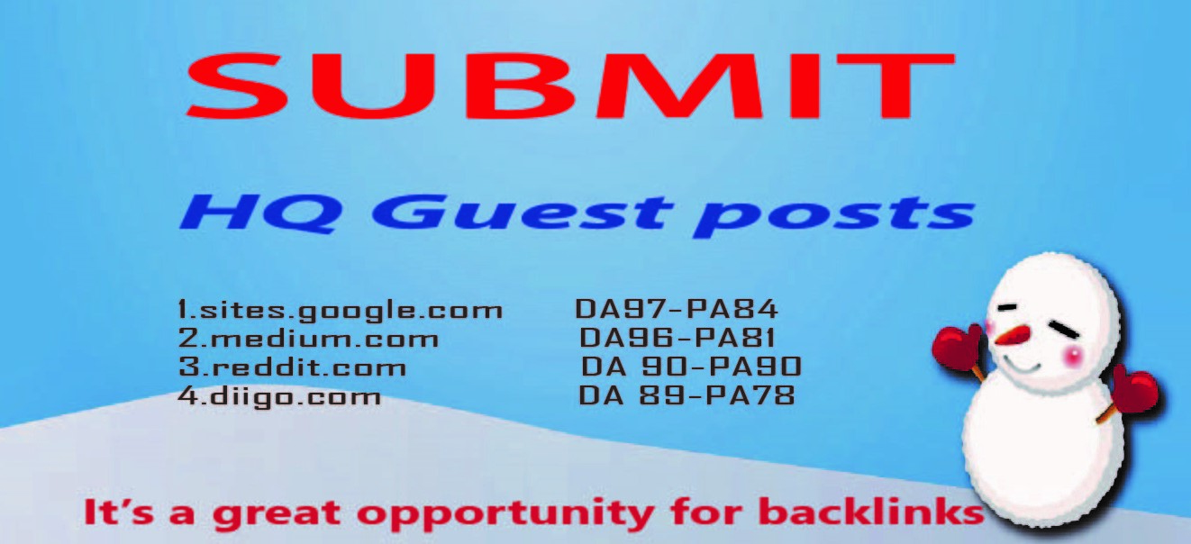 I will write and publish 04 HQ guest post on websites high domain authority
