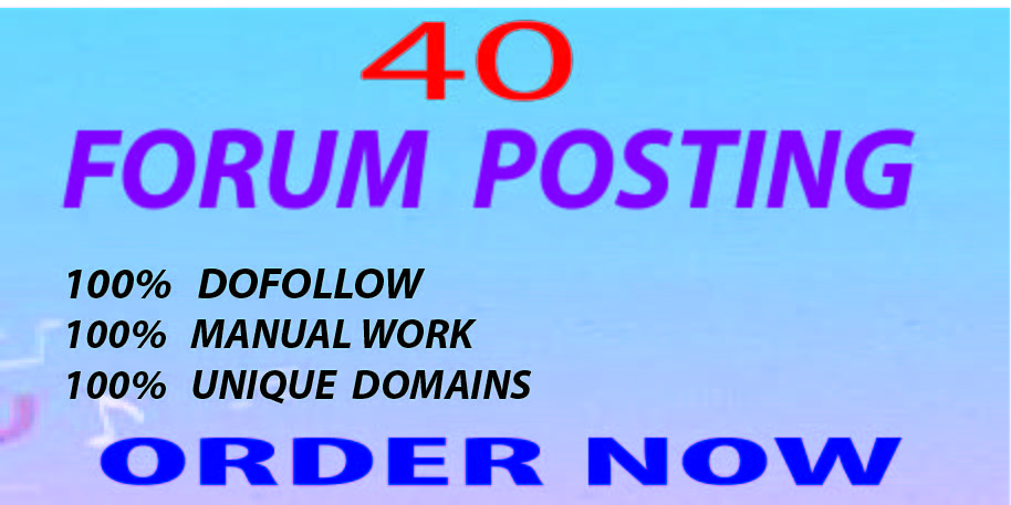 40 High Quality Forums Posting SEO Backlinks