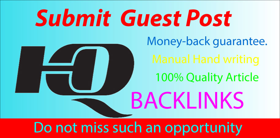 I will write and publish guest posts HQ website google index guaranteed Da 85+