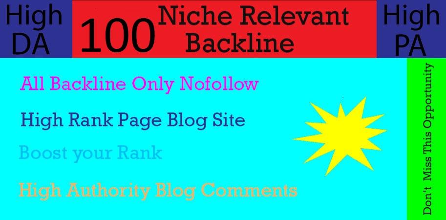 I will create 100+ Niche Relevant Blog Comments High Quality DA / PA.