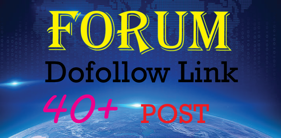 I will create manually 40 Forum posting backlinks link approval guaranty