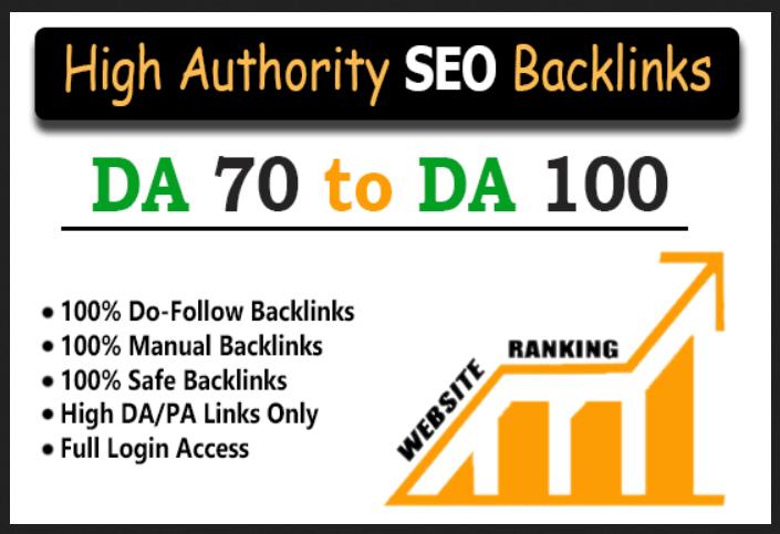 55 PR9 - 70+ DA High quality backlinks