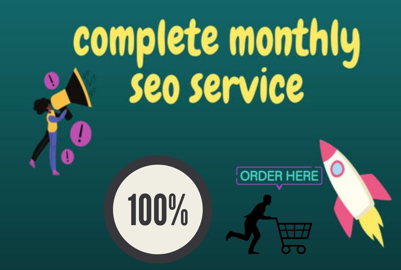 guaranteed Complete Monthly SEO Service With Backlinks For Google Top Ranking