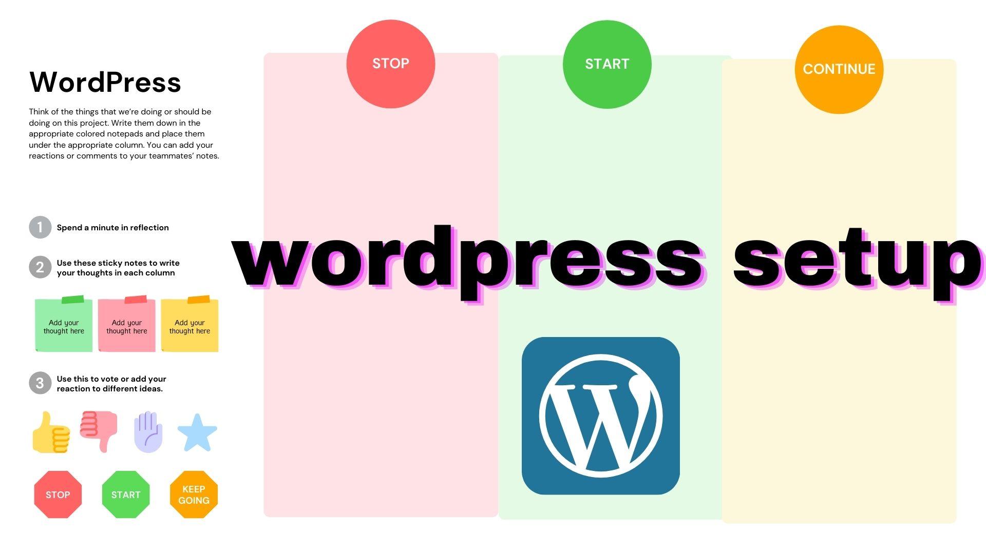 I will install WordPress, setup theme and do some customization
