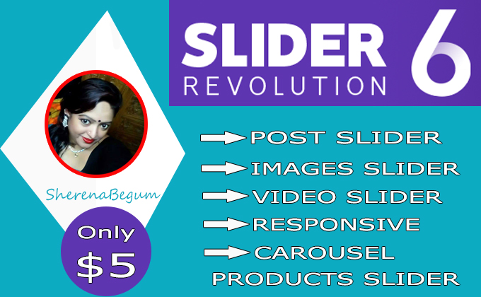 I will create and fix professional revolution slider for wordpress