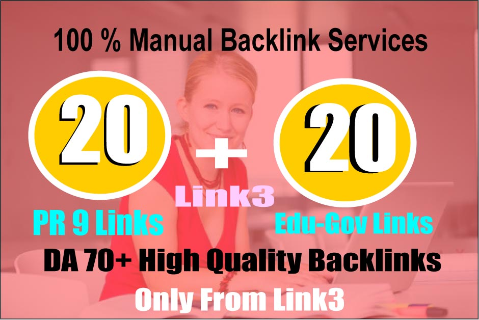 Elevate Your Ranking on GOOGLE With 20 PR9 DA 80+ and 20 Edu. Gov Authority Backlinks