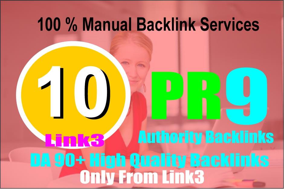 10 PR 9 Safe SEO Backlinks Drive to your Google rank,  DA 90+
