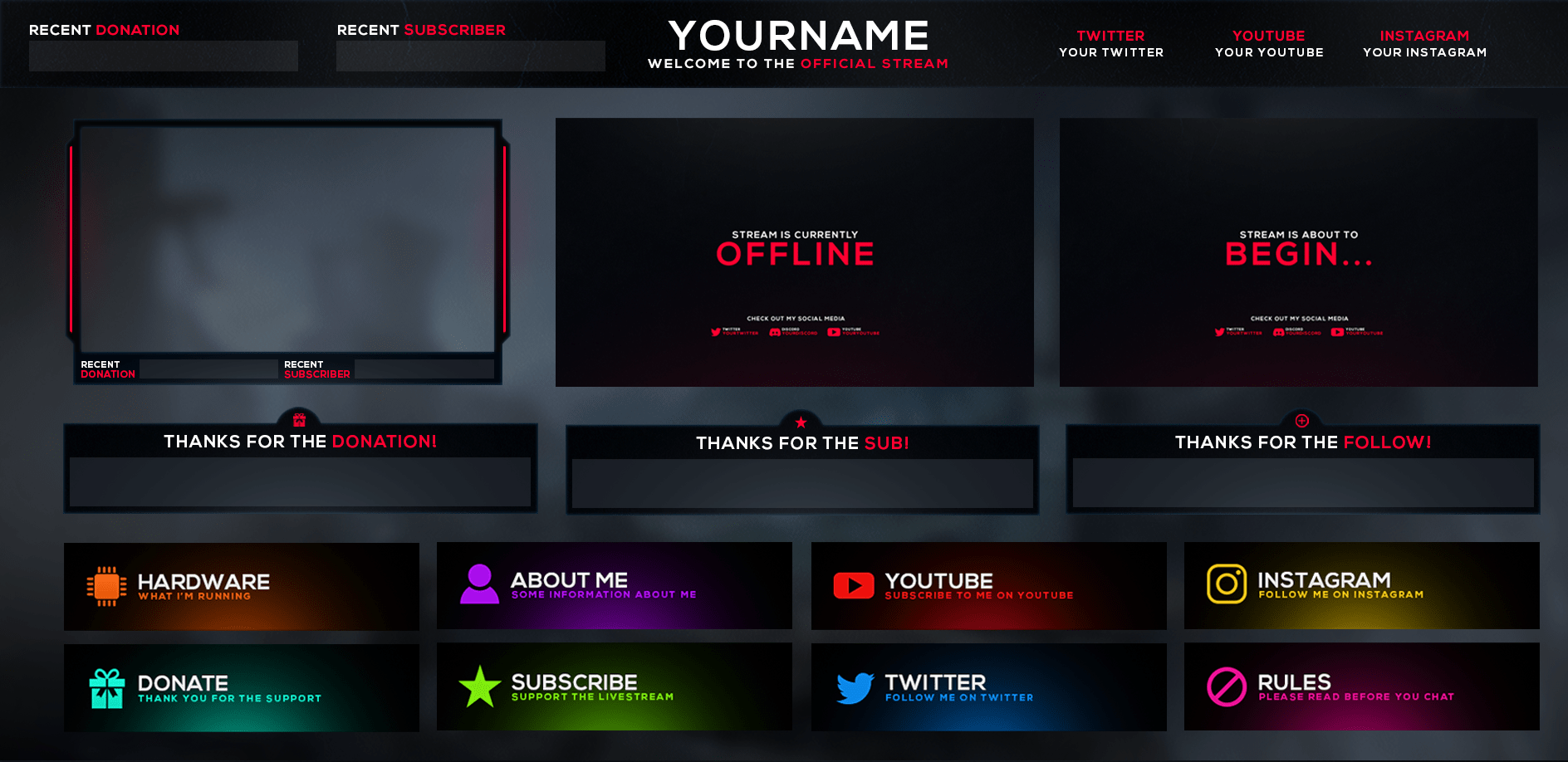 i will customize you twitch overlay