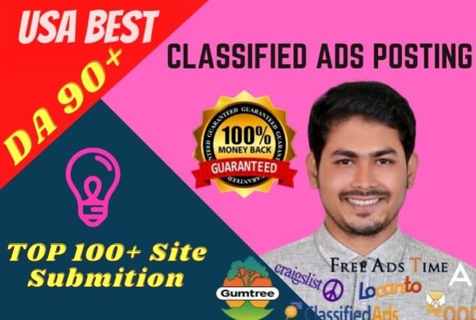 professionally ads post USA classified ad posting manually