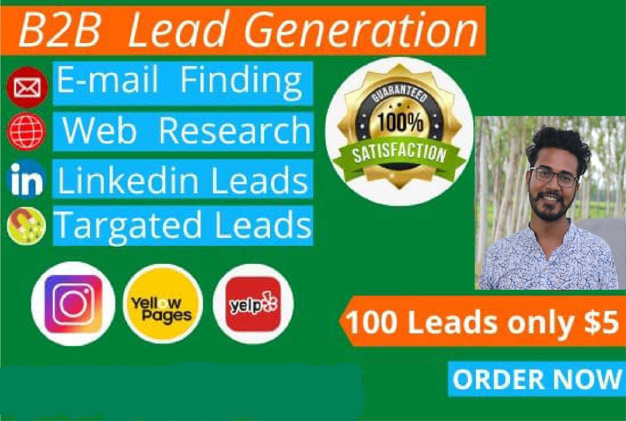 I will collect leads to take your business on top with guarantee