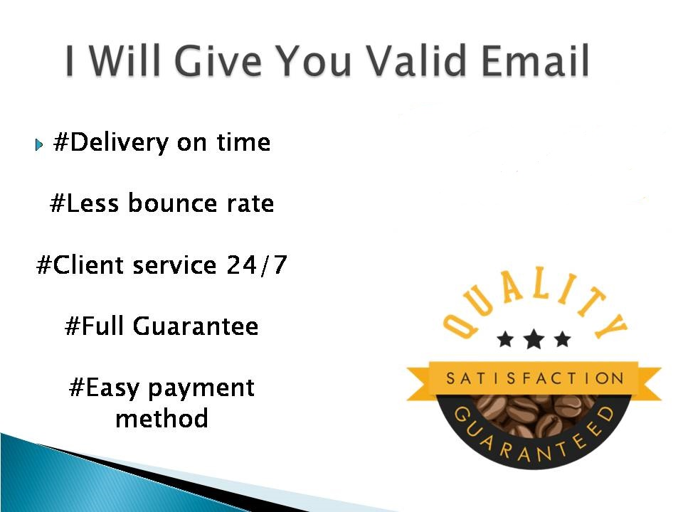 I will collect valid email on your target based which will help you to grow up your business connect