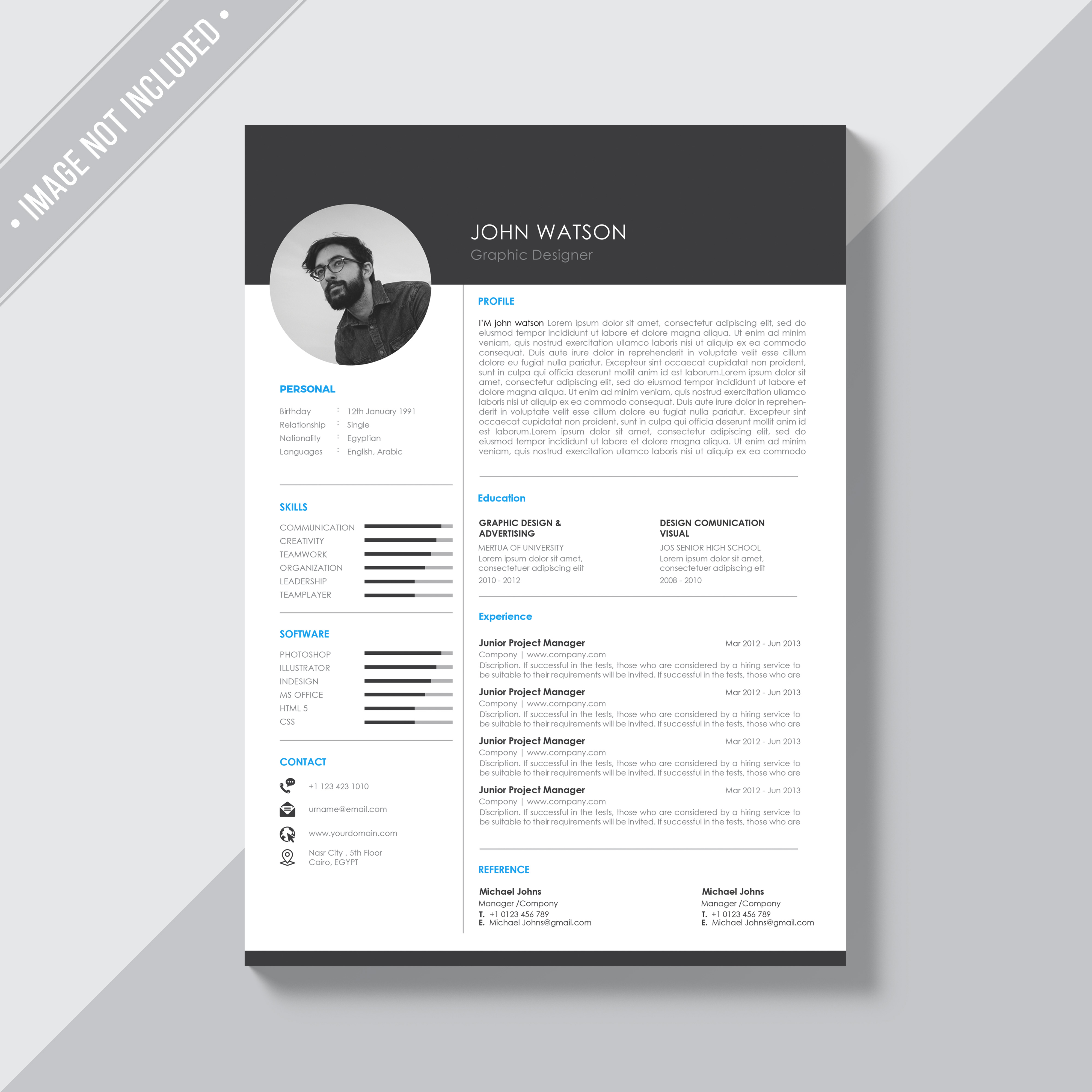 I will design and update your resume into professional template