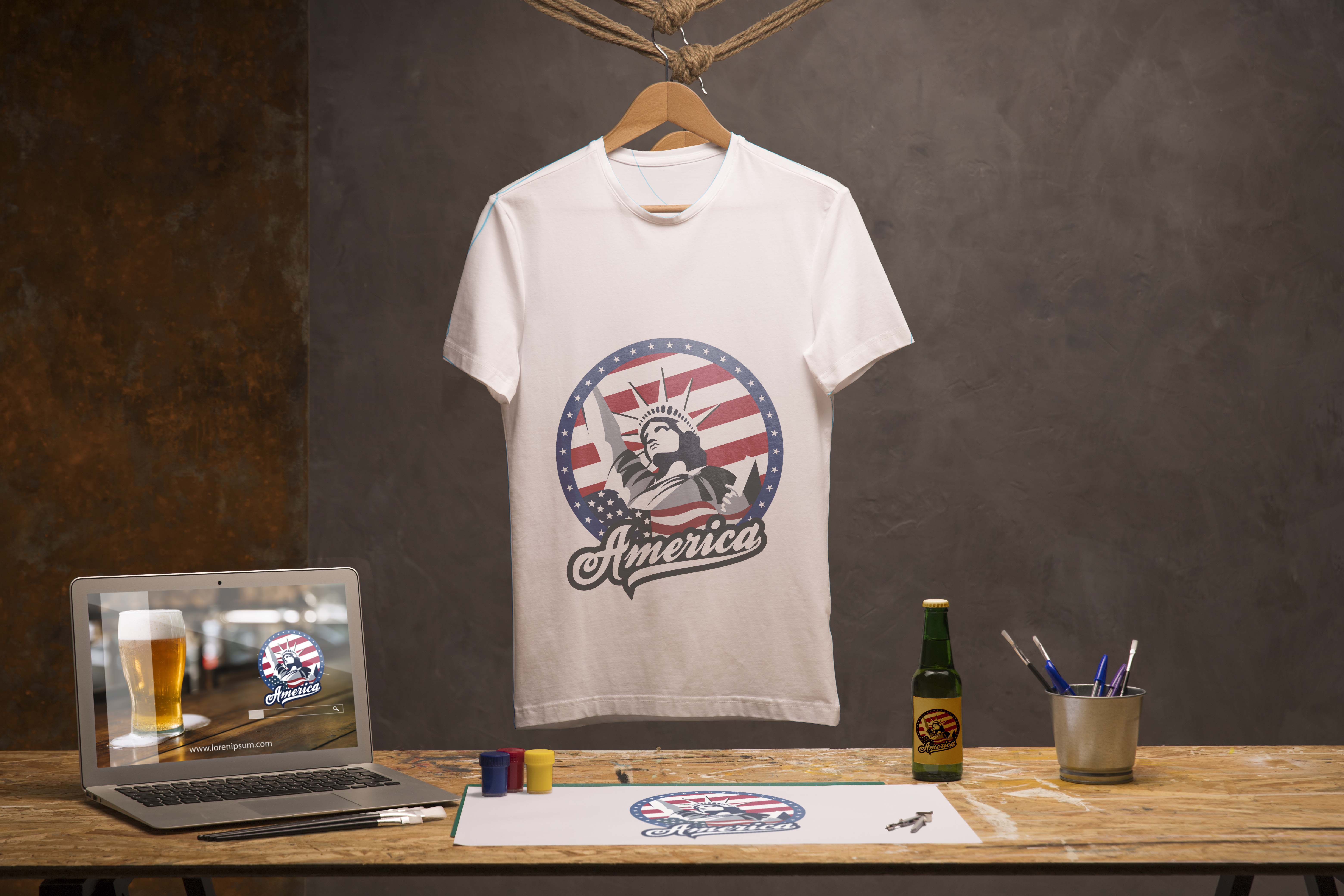 I will design beautiful and trendy t shirt for your business