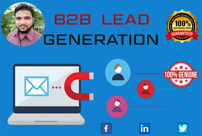 I will do 100 b2b lead Generation for you