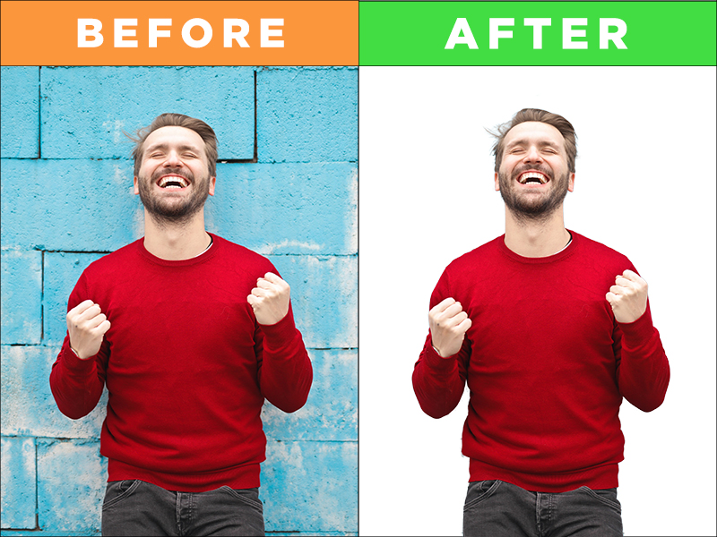 I will remove background from pictures professionally in photoshop