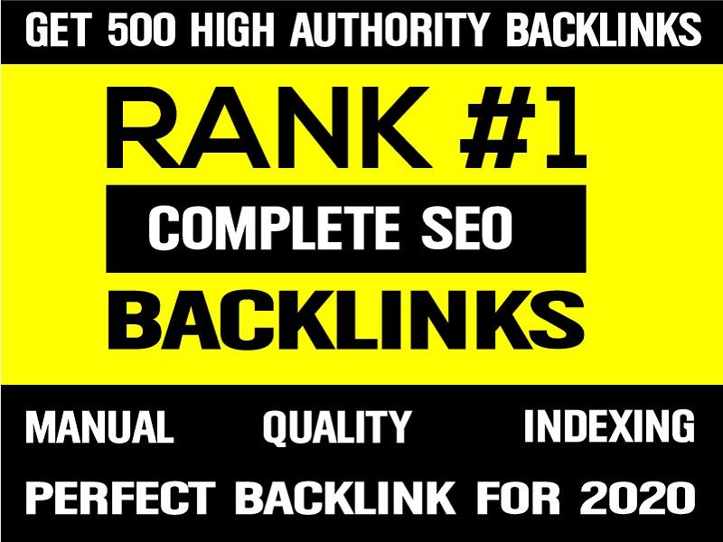 2020 SPECIAL- 500 UNIQUE HIGH DA90+ HiGH AUTHORITY SEO BackIinks Plus EDU Links