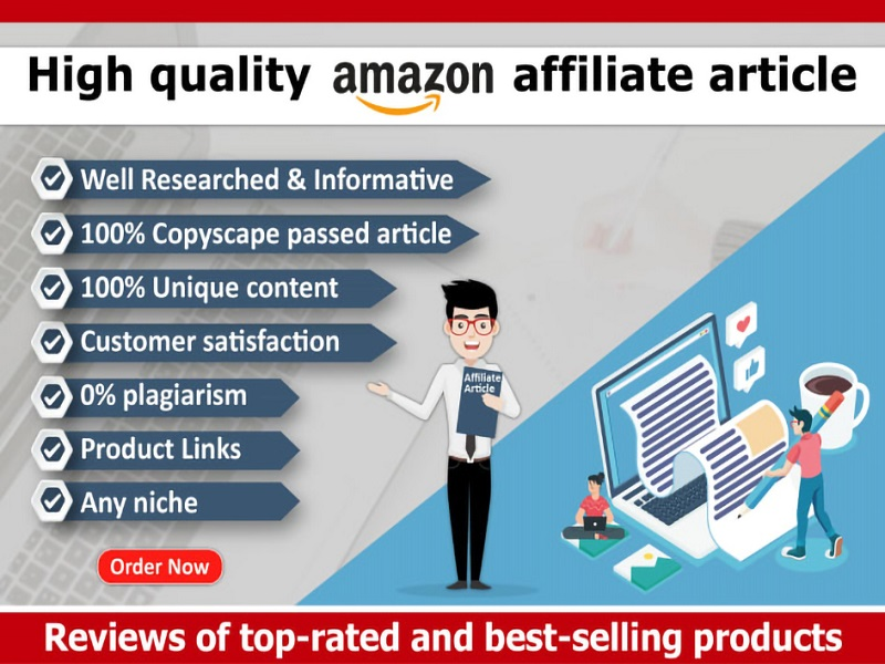 I will write 500 words SEO friendly amazon affiliate article