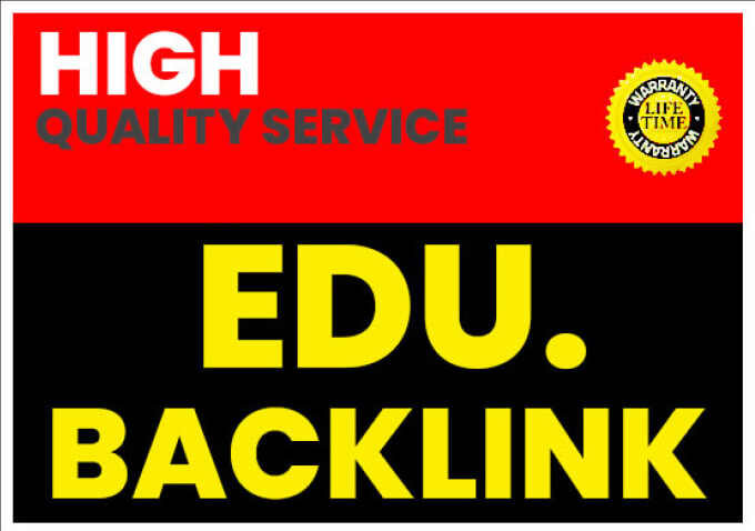 I will create 50 edu backlinks and gov backlinks from big universities