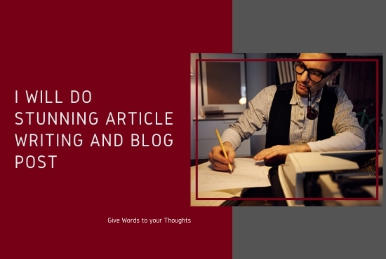 500 words stunning article writing and blog post for your website